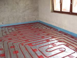 Монтаж водяного теплого пола в частном доме
